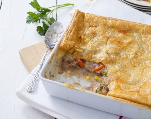 Creamy Tuna Vegetable Pie